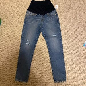 Gap maternity cropped distressed jeans